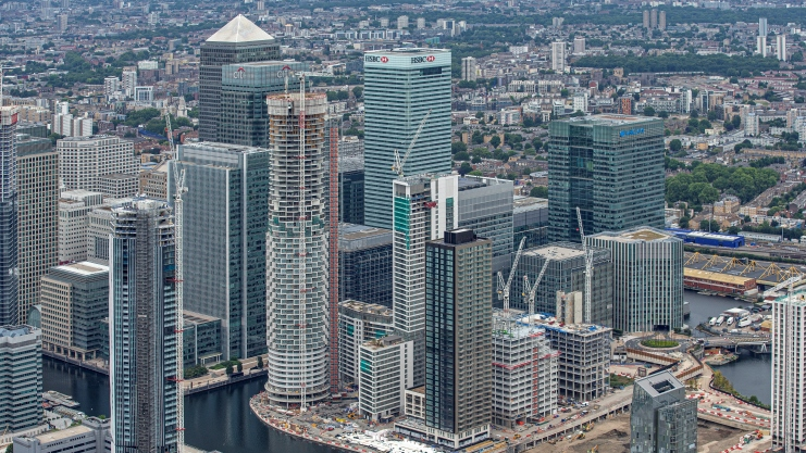 Canary Wharf Groups Development One Park Drive Tops Out At